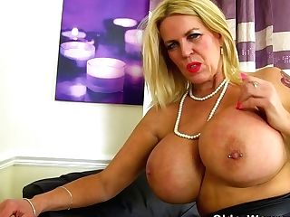 English Cougar Shannon Will Please You With Her Immense Mounds