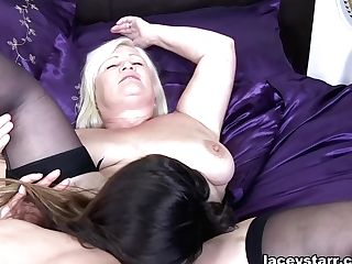 Eva Johnson & Lacey Starr In All Girl Orgy With Eva - Laceystarr