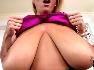 Strong Chested Cougar Laura M. Gets Mischievous