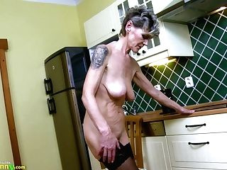 Oldnanny Horny Matures Lusty Solo Showoff Footage