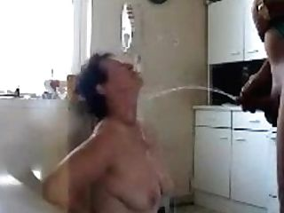 Matures Wifey Pissed On