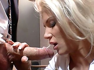 Big Titted Filthy Blondie Performs Filthy Bj In The Office