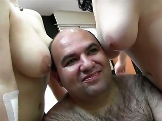 Hairy Fat And Gross Dude Likes Eating Moist Cunts Of Buxom Lewd...