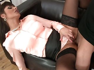 Gorgeous Clothed Bitch Tera Joy Gets Laid And Takes Popshots On Her...